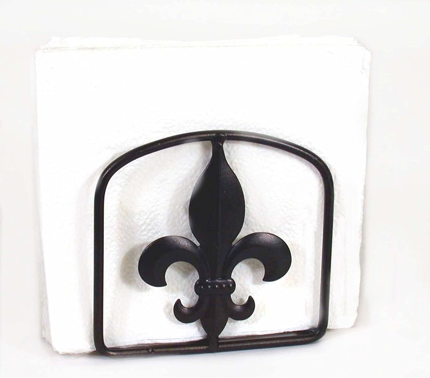SQUARE NAPKIN HOLDER FLUER DE LIS We OFFer at cheap prices 5 X INCHES INHES SYMBOL-5 HIGH Max 80% OFF