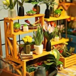 Rolife Dollhouse DIY Miniature Room Kit-Handmade Green House-Home Decoration-Miniature Model to Build-Christmas Birthday… 11 【Exquisite Mini House and Eco-Friendly Materials】Our diy mini doll house is very well made, using a miniature scale of about 1:24. All pieces are in seperate bags and a colourful step by step instruction book is included, which is a joy to read and very clear.The materials in the kit are eco-friendly, have no burrs.The paint is odorless and can also be easily washed out by water 【DIY Model Kits and A Handmade Toy】This wood model kits will make you fall in love with arts and crafts and become fulfilled. Inside the furniture suite are easy to stitching, Even if you are a beginner, follow the steps to do it will not be too hard. You can give yourself a plan, spend two hours a day to assemble, stick to it, not only develop good habits, but also make a surprise toy house 【Be Patience and Feel Amazing】To build it, patience is the ultimate key to success.It can be assembled with family, friends and lovers to experience the pleasure of hands-on.A sense of accomplishment will come when it is finished.You can redecorate it and add in your new creation.After turning on the light, it makes a comfy, cute room to look at once and awhile