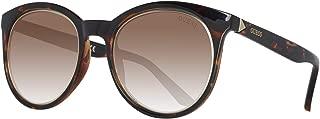 Guess Women's Fashion Sun GU 7466 52E Sunglasses, Brown, 53 mm