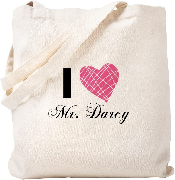 CafePress I Love Mr. Darcy Tote Bag Natural Canvas Tote Bag, Reusable Shopping Bag