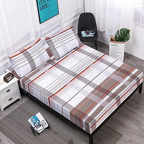 XGguo Protector de colchón de Rizo algodón y Transpirable Impresión de sábanas Impermeables Barrera de orina-10_80cmX200cm