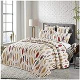 COTTON ARTean - Tagesdecke Bouti Salve für 160-cm-Bett (260 x 260 cm), inkl. 2 Kissenbezügen.