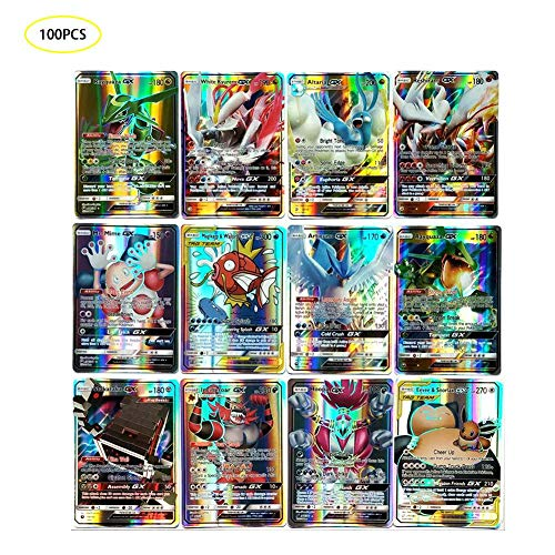 100PCS Digital Monster Collectible Card Game,Poke TCG Cards Flash Card Pokemon Card, Fun Card Game for Kids & Adults, Verjaardagskaart