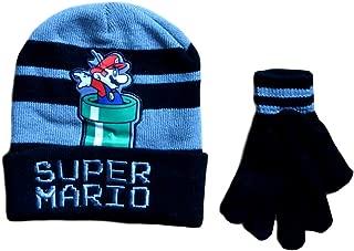 Super Mario Boys Beanie Hat and Gloves Set