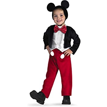 Disguise Disney Mickey Mouse Deluxe Toddler/Child Costume ディズニーミッキーマウスデラックス幼児/子供コスチュームハロウィンサイズ:3T-4T レッド XS 5027M-I