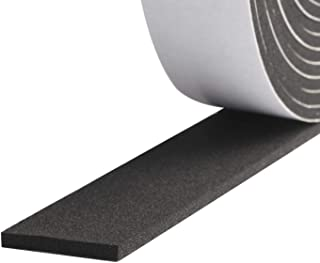 High Density Foam Tape Waterproof Sealing Strip CR Strips Neoprene Single-Sided Adhesive EVA Seal 1/2'' X 1/8'' X 16.7Ft