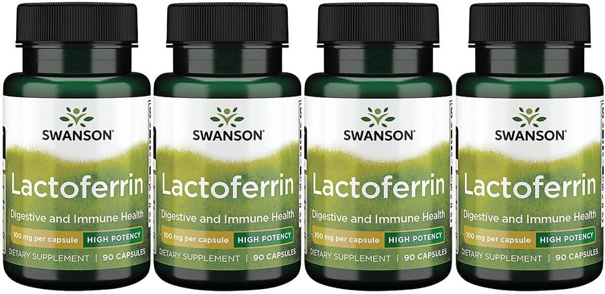 Swanson High Potency Lactoferrin 100 Soldering 90 mg Finally resale start Caps Pack 4