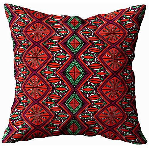 jonycm Throw Pillow Covers Géométrique Folklore Ornement Tribal Ethnique Texture Rayé Motif en...