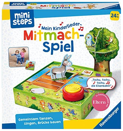 Ravensburger ministeps 4172 Mein Kinderlieder-Mitmachspiel, Spiel mit Musikbox und 12 bekannten Kinderliedern, Spielzeug ab 2 Jahre