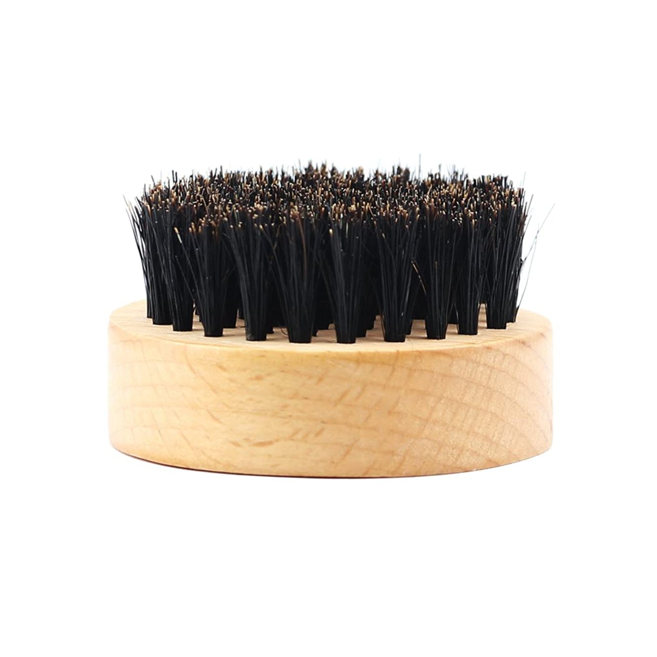 典型的な心配する息苦しいHomyl 髭ブラシ 男性 ひげ剃り 天然木ハンドル ひげそり グルーミング 2タイプ選べる - #2