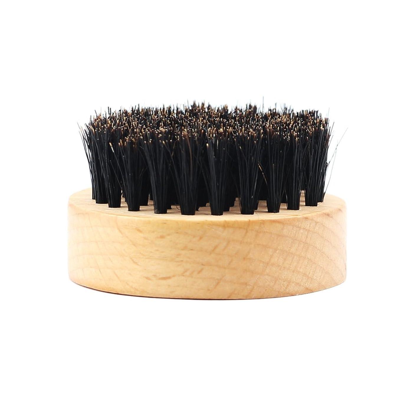 沿って一月属するHomyl 髭ブラシ 男性 ひげ剃り 天然木ハンドル ひげそり グルーミング 2タイプ選べる - #2