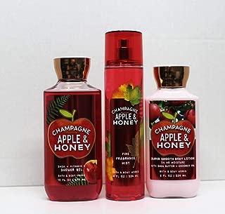 Bath and Body Works - Champagne Apple & Honey - Shower Gel, Body Lotion, Fine Fragrance Mist Daily Trio Summer 2018