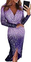 Vestido De Gradiente Dividido para Mujer, Falda A Media Pierna, Primavera Y Verano