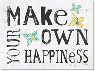 Make Your Own Happiness by Kellie Day, 24x32-Inch Canvas Wall Art