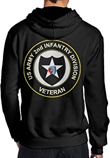U.S. Army Veteran 2nd Infantry Division Men's Pullover Hooded Sport Sweatshirt