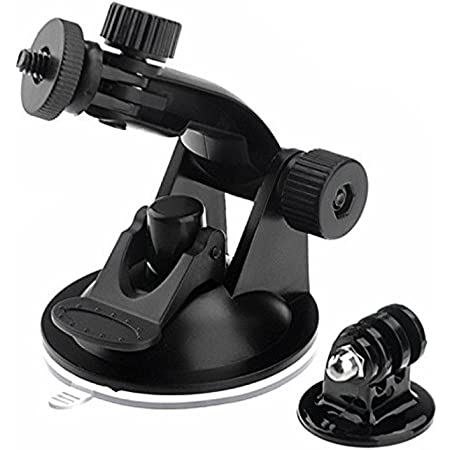 Quikprof Suction Cup with Free Tripod Mount Adapter Camera Accessories for Gopro Hero Xiaomi Yi, Sjcam Compatible with All Standard Size sportscam Mount