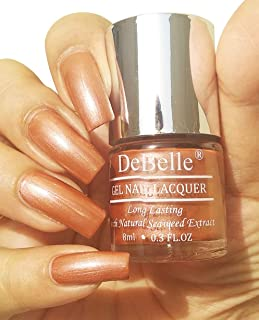 DeBelle Gel Nail Polish Roseate Gold (Metallic Rose Gold Nail Polish)-8ml