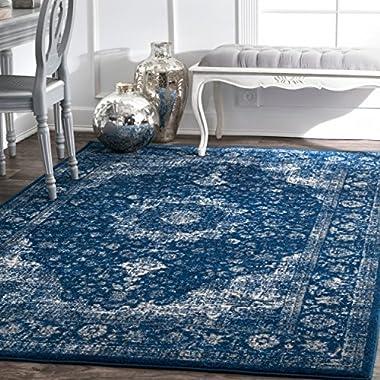 nuLOOM Vintage Persian Verona Area Rug, 6' 7  x 9', Dark Blue
