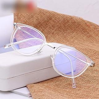 58789e9e7a Hemotrade Gafas Redondas para Gafas de Moda Lentes Transparentes Unisex  Elegantes Gafas sin Receta (Color
