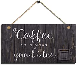 Smarten Arts Wood Coffee Sign Coffee Kitchen Wall Hanging Sign Wall Art