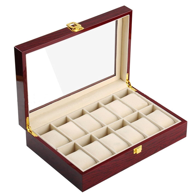 第二生き残ります船尾木製 腕時計収納 ボックス 12本用 コレクション ケース ディスプレイ ピアノラッカー