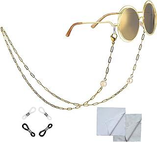 Jixin4you Women's Eyeglass Chains, Multifunction Glasses Lanyard Strap, Unisex Anti-lost Eyewear Retainer Lanyard