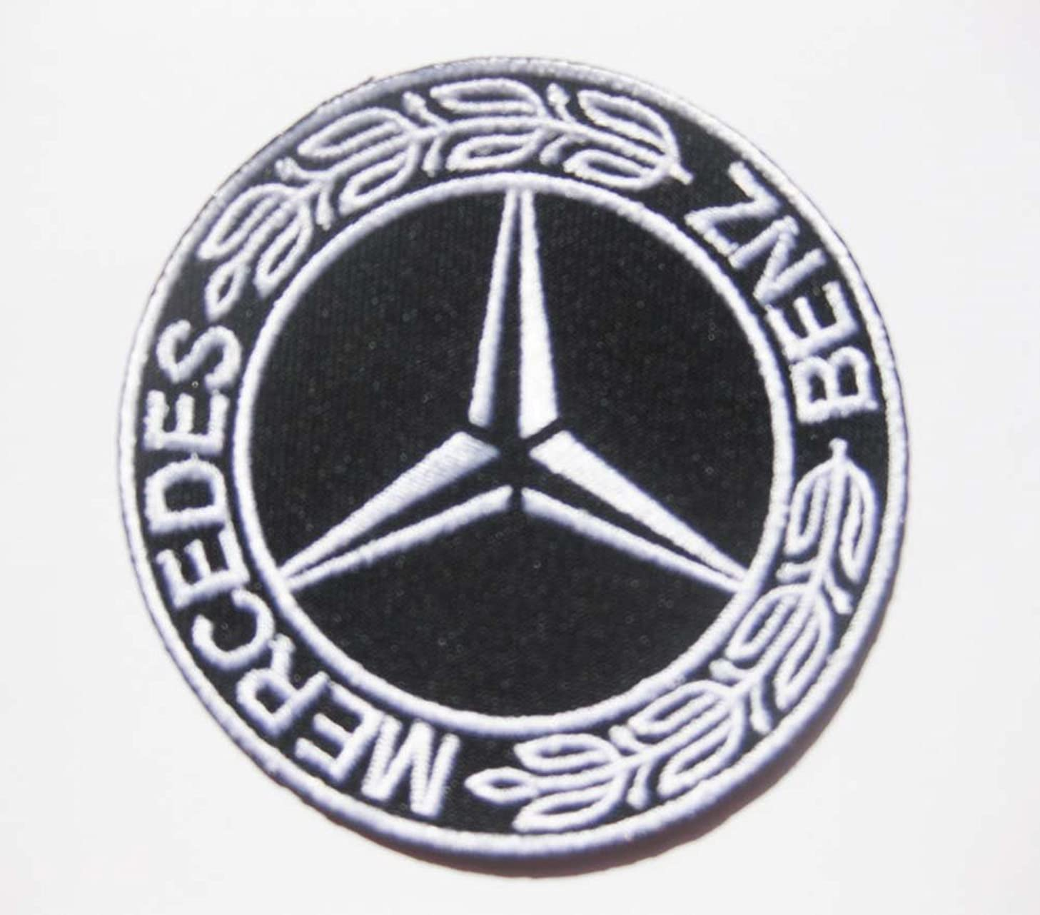 MERCEDES BENZ Logo MOTOR AUTO sew iron on Patch Badge Embroidery 7.5 cm 3