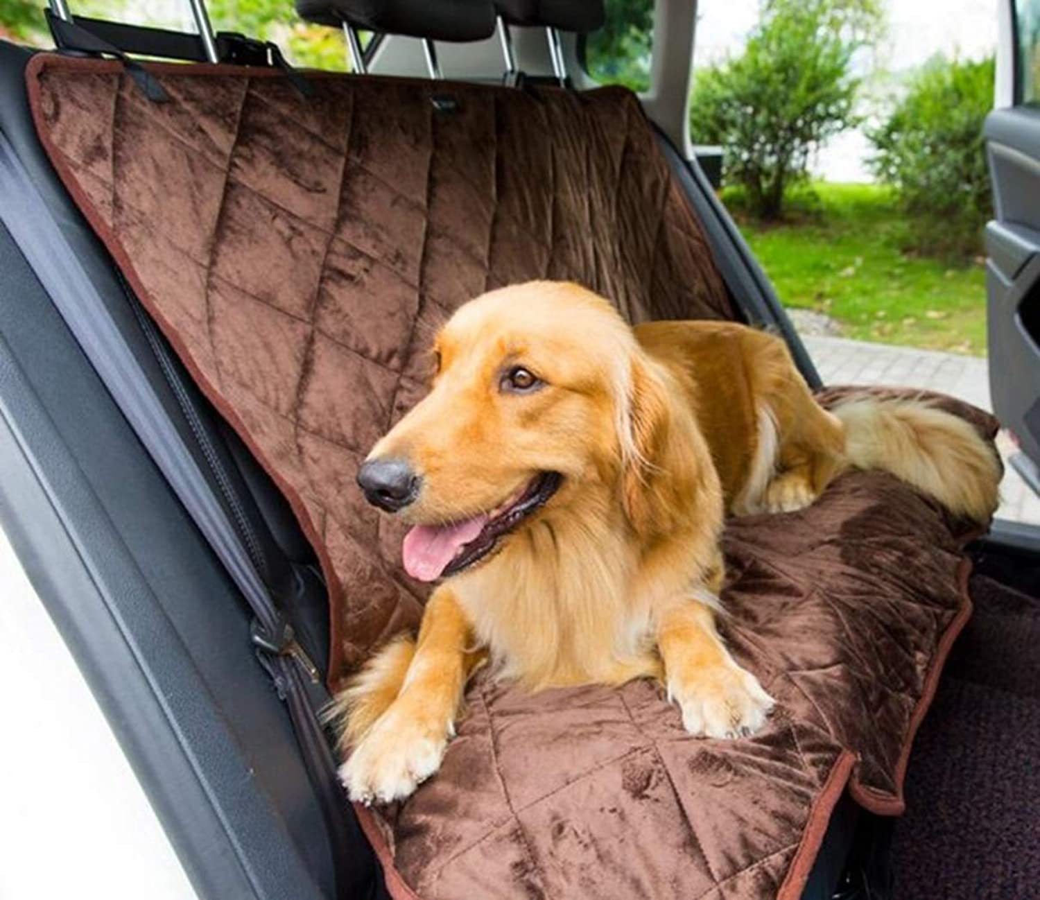 SENERY Pet Dog Car Back Seat Covers,Waterproof Car Two Seat Cover Pet Accessories Covers Mat for Dogs
