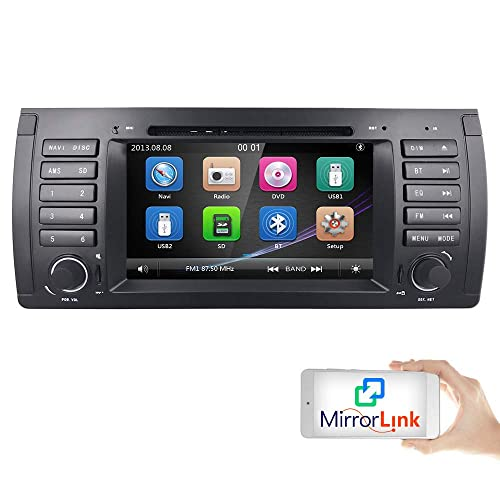 For BMW 5 Series E39 E53 X5 M5 Coche Radio Vehicle Single DIN 7 Inch En