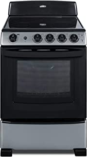 Summit REX2451SS 24 Inch Wide 2.9 Cu. Ft. Free Standing Electric Range with Safety Burners