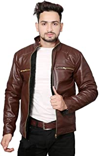nida Casual Shine Leather Jackets for Mens and boy Men Jacket Brown