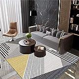 Alfombra alfombras para la Cocina Alfombra de diseño geométrico Gris Negro Antideslizante y fácil de Limpiar Rugs for Living Room Alfombra habitacion Bebe 50*120CM