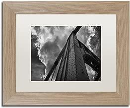 Andy Warhol Bridge by Jason Shaffer, White Matte, Birch Frame 11x14-Inch