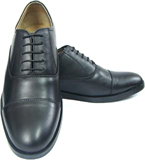 ASM Genuine Softy Leather Black Oxford Shoes with TPR (Thermo Plastic Rubber) Sole, Leather Insole, Fully Leather Lining and Memory Foam for Optimum Comfort for Men. Available Men. UK Sizes 5 to 15