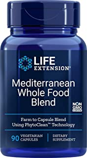 Life Extension Mediterranean Whole Food Blend, 90 Vegetarian Capsules
