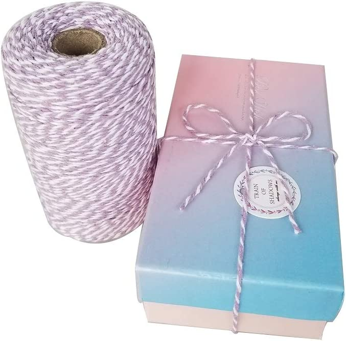 Christmas Gift Wrapping Cotton String Crafts Twine String and Holiday Decorations Tpyx Red and White Twine 656 Feet 200 m Cotton Baker Twine
