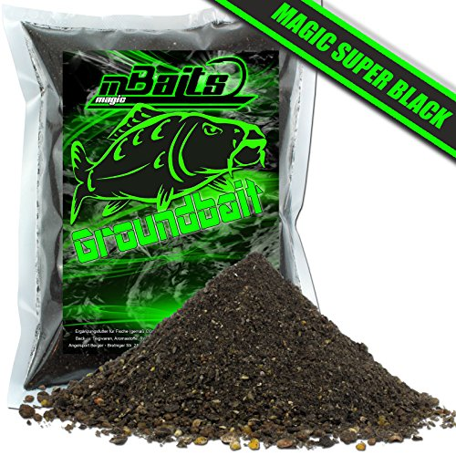 Angel-Berger Magic Baits Groundbait Grundfutter Angelfutter Verschiedene Sorten (Magic Super Black, 1Kg)