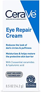 Eye Cream by Cerave, Restore and Repair Dark Circles & Puffiness, Fragrance Free, 0.5 Oz