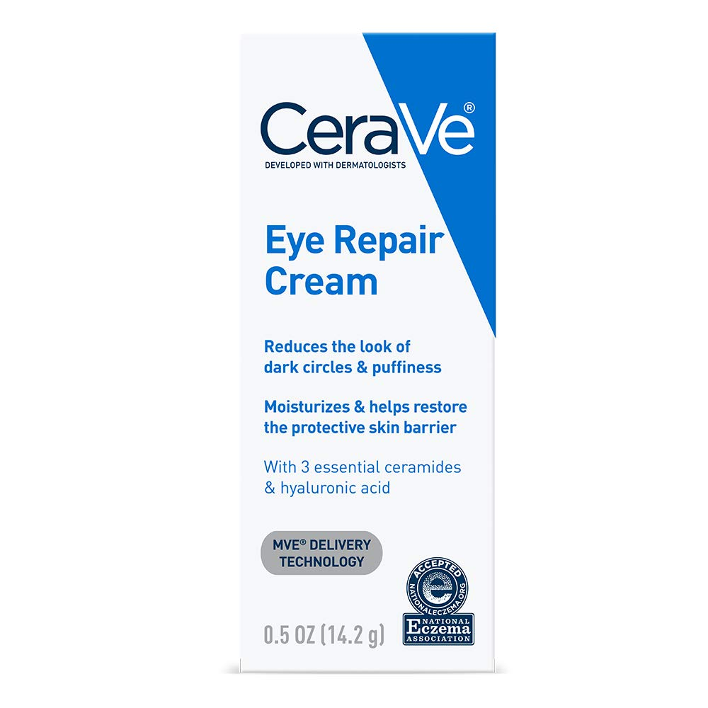 Cerave Eye Repair Cream | Under Eye Cream for Dark Circles and Puffiness | Suitable for Delicate Skin Under Eye Area | 0.5 Ounce