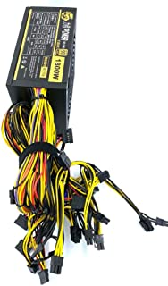 POWER 1800W ATX Modular Mining PC Power Supply Supports 6 Graphics Card 180-270V Power Supply Mining Machine Support