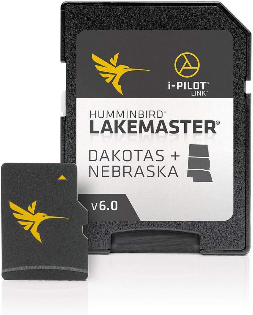 Humminbird 600013-5 LakeMaster Dakotas + Nebraska V6 Digital GPS Maps Micro Card