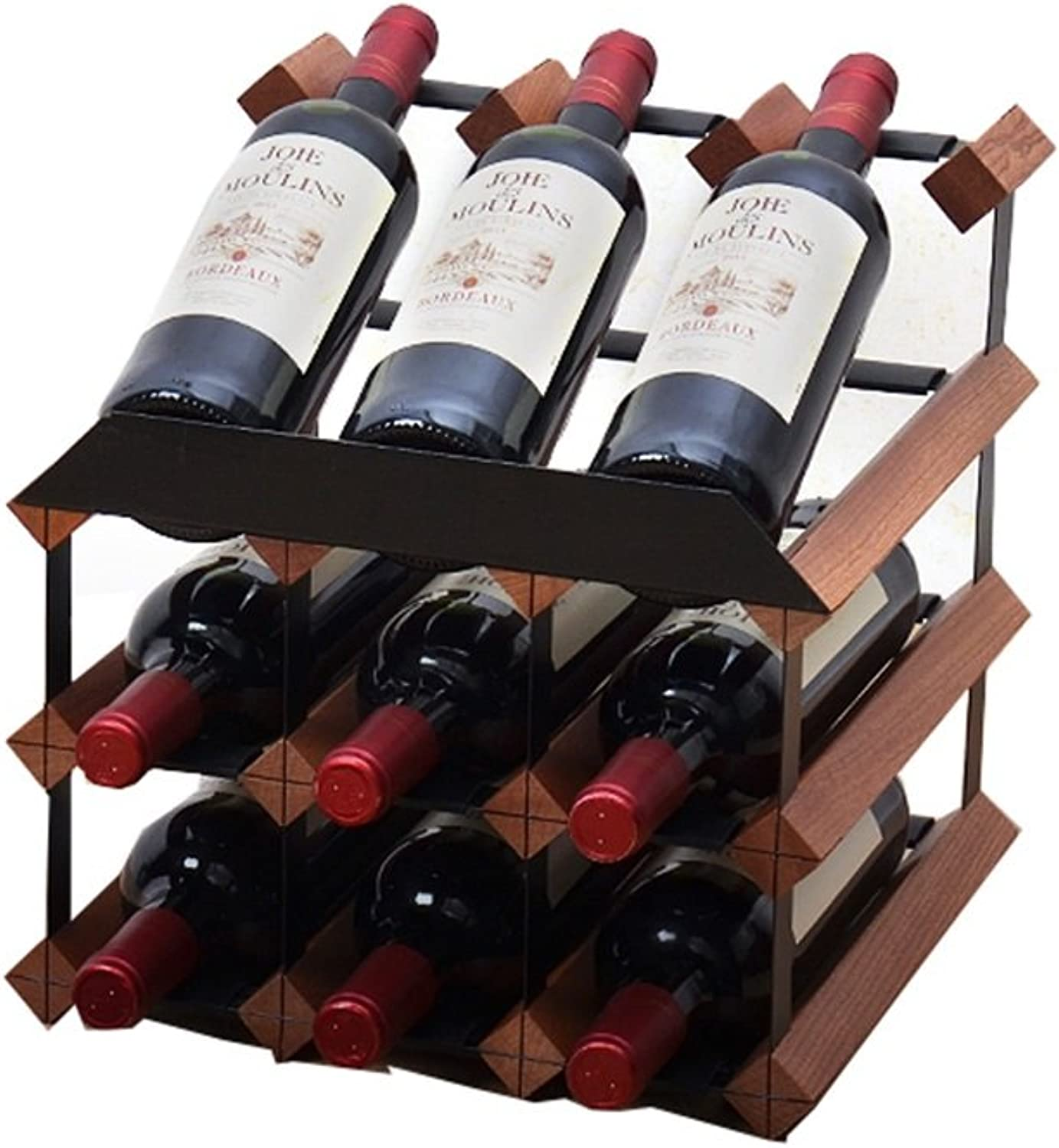 Solid Wood Wine Rack, Modern Minimalist Home Furnishings (Size   32  30  32cm)