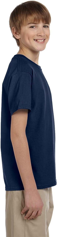 Fruit of the Loom Youth 5.6 oz. Heavy Cotton T-Shirt, Navy, Medium