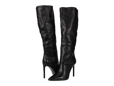 Steve Madden Olga Over-the-Knee Boot (Black Leather) Women