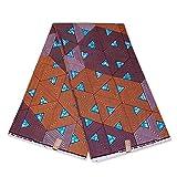 Afrikanischer Stoff, pfirsichfarben/braune Dreiecke,