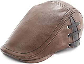 [キャプテン・ケイ] メンズ ハンチング キャップ フェイクレザー ハンチング帽
