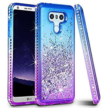 Ruky Case Compatible with LG G6 Colorful Quicksand Series Glitter Flowing Liquid Floating Protective Shockproof Bling Diamond Soft TPU Phone Case Compatible with LG G6 G6 Plus Colorful
