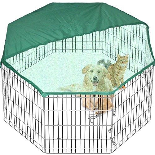 Gran Playpen Jaula de Jardín para perros y cachorros desplegable para interiores/exteriores...