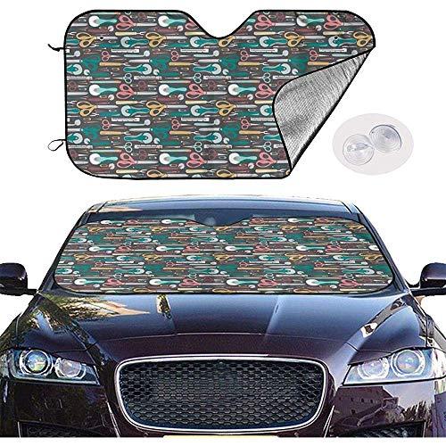KDU Fashion voorruit zonwering, quilters naaiende begrippen comfortabele voorruiten-zonneschermen voor minivan-voertuigen 70x130cm