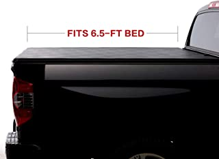 North Mountain Soft Vinyl Roll-up Tonneau Cover, Fit 04-14 Ford F150 06-08 Lincoln Mark LT Pickup 6.5ft Styleside Bed, Clamp On No Drill Top Mount Assembly w/Rails+Mounting Hardware